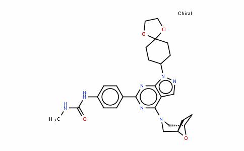 N-[4-[1-(1,4-二氧杂螺[4.5]癸烷-8-基)-4-(8-氧杂-3-氮杂双环[3.2.1]辛烷-3-基)-1H-吡唑并[3,4-d]嘧啶-6-基]苯基]-N'-甲基脲