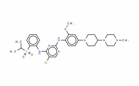 5-氯-N2-[2-甲氧基-4-[4-(4-甲基-1-哌嗪基)-1-哌啶基]苯基]-N4-[2-[(1-甲基乙基)磺酰基]苯基]-2,4-嘧啶二胺