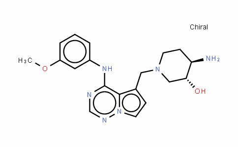 (3R,4R)-4-氨基-1-[[4-[(3-甲氧基苯基)氨基]吡咯并[2,1-f][1,2,4]三嗪-5-基]甲基]哌啶-3-醇