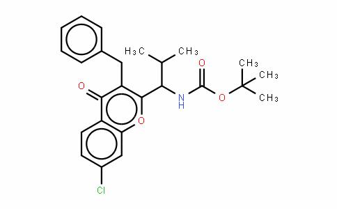 (R)-tert-butyl 1-(3-benzyl-7-chloro-4-oxo-4H-chromen-2-yl)-2-methylpropylcarbamate/