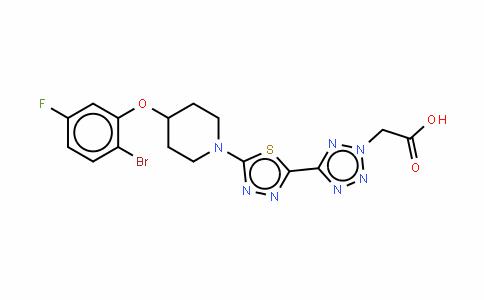 (5-{5-[4-(2-bromo-5-fluorophenoxy)piperidin-1-yl]-[1,3,4]-thiadiazol-2-yl}-2H-tetrazol-2-yl)acetic acid/