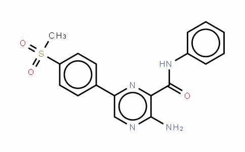 3-氨基-6-[4-(甲基磺酰基)苯基]-N-苯基-2-吡嗪甲酰胺