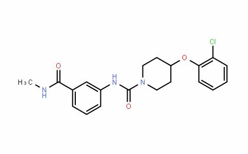 4-(2-Chlorophenoxy)-N-[3-[(methylamino)carbonyl]phenyl]-1-piperidinecarboxamide