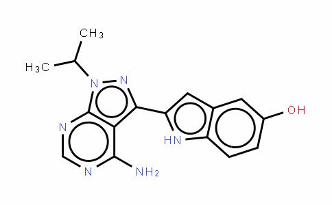 2-(4-氨基-1-异丙基-1H-吡唑并[3,4-D]嘧啶-3-基)-1H-吲哚-5-醇