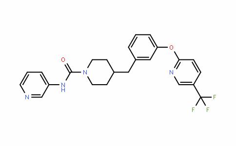 N-3-吡啶基-4-[[3-[[5-(三氟甲基)-2-吡啶基]氧基]苯基]甲基]-1-哌啶甲酰胺