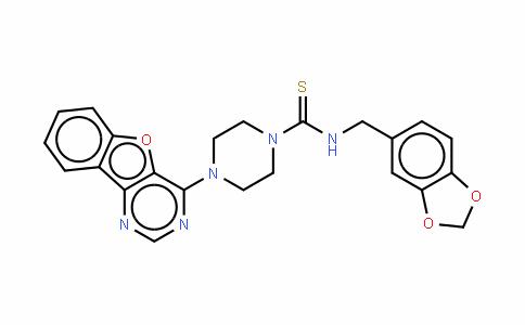 N-(1,3-苯并二氧戊环-5-基甲基)-4-苯并呋喃并[3,2-d]嘧啶-4-基-1-哌嗪硫代甲酰胺