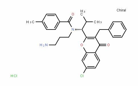 N-(3-氨基丙基)-N-[(1R)-1-[7-氯-4-氧代-3-(苯基甲基)-4H-1-苯并吡喃-2-基]-2-甲基丙基]-4-甲基苯甲酰胺盐酸盐