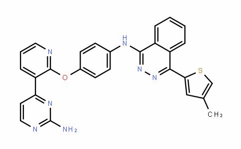 N-[4-[[3-(2-氨基-4-嘧啶基)-2-吡啶基]氧基]苯基]-4-(4-甲基-2-噻吩基)-1-酞嗪胺