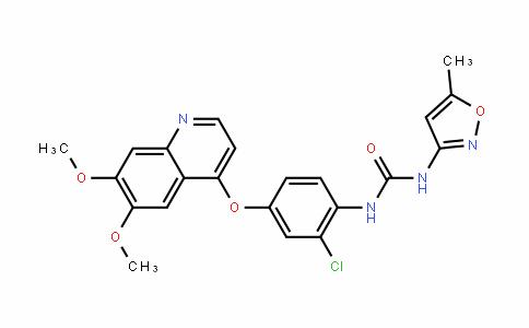 N-[2-氯-4-[(6,7-二甲氧基-4-喹啉基)氧基]苯基]-N'-(5-甲基-3-异恶唑基)脲