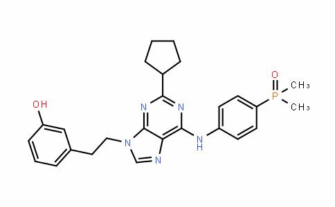 3-[2-[2-环戊基-6-[[4-(二甲基膦酰)苯基]氨基]-9H-嘌呤-9-基]乙基]苯酚