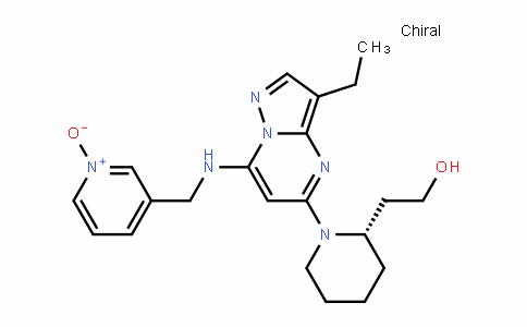 (2S)-1-[3-乙基-7-[[(1-氧代-3-吡啶基)甲基]氨基]吡唑并[1,5-A]嘧啶-5-基]-2-哌啶乙醇