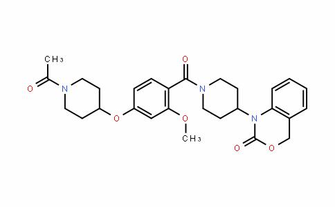 1-[1-[4-(1-acetylpiperidin-4-yl)oxy-2-methoxybenzoyl]piperidin-4-yl]-4H-3,1-benzoxazin-2-one