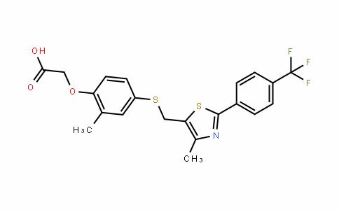 2-(4-((2-(4-(三氟甲基)苯基)-5-甲基噻唑-4-基)甲基硫基)-2-甲基苯氧基)乙酸