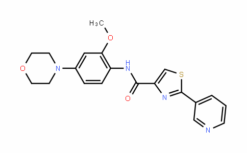 N-[2-甲氧基-4-(4-吗啉基)苯基]-2-(3-吡啶基)-4-噻唑甲酰
