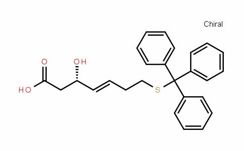 (3S,4E)-3-Hydroxy-7-[(triphenylmethyl)thio]-4-heptenoic acid