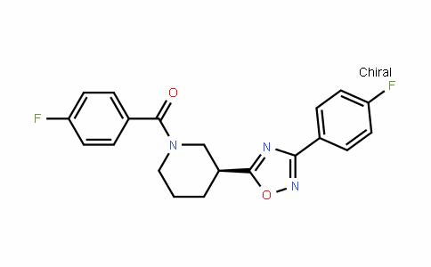 (S)-(4-氟苯基)-{3-[3-(4-氟苯基)-[1,2,4]二唑-5-基]哌啶-1-基}甲酮