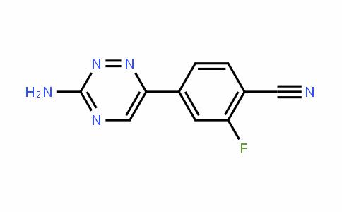 4-(3-AMINO-1,2,4-TRIAZIN-6-YL)-2-FLUOROBENZONITRILE