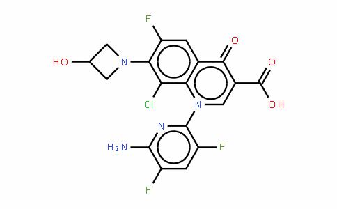 1-(6-氨基-3,5-二氟-2-吡啶基)-8-氯-6-氟-1,4-二氢-7-(3-羟基-1-氮杂环丁基)-4-氧代-3-喹啉羧酸
