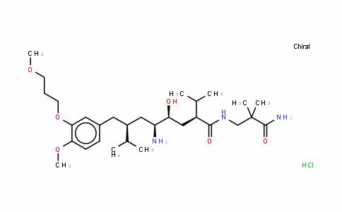 (2S,4S,5S,7S)-7-(3-(3-甲氧基丙氧基)-4-甲氧基苄基)-5-氨基-N-(2-氨基甲酰基-2-甲基丙基)-4-羟基-2-异丙基-8-甲基壬酰胺盐酸盐