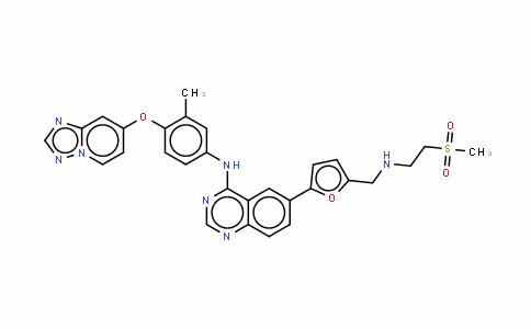6-[5-[[[2-(甲磺酰基)乙基]氨基]甲基]-2-呋喃基]-N-[3-甲基-4-([1,2,4]三唑并[1,5-A]吡啶-7-氧基)苯基]-4-氨基喹唑