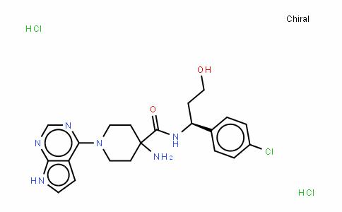 4-氨基-N-[(1S)-1-(4-氯苯基)-3-羟基丙基]-1-(7H-吡咯并[2,3-D]嘧啶-4-基)-4-哌啶甲酰胺