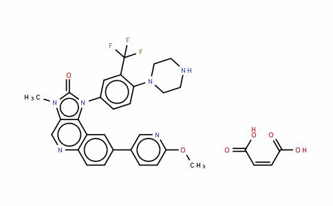 1-(3-三氟甲基-4-(哌嗪-1-基)苯基)-8-(6-甲氧基吡啶-3-基)-3-甲基-1H-咪唑并[4,5-C]喹啉-2(3H)-酮马来酸盐