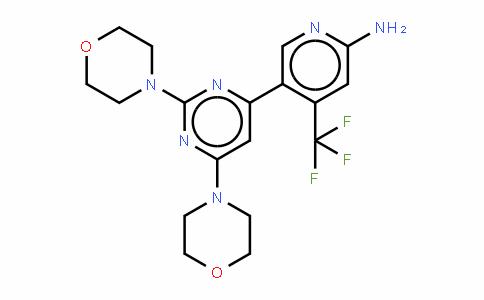 5-[2,6-二(4-吗啉基)-4-嘧啶基]-4-(三氟甲基)-2-吡啶胺