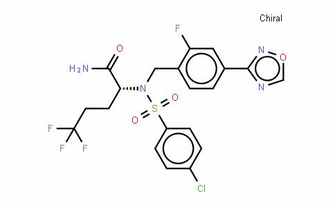 (2R)-2-[N-[(4-氯苯基)磺酰基]-N-[2-氟-4-(1,2,4-恶二唑-3-基)苄基]氨基]-5,5,5-三氟戊酰胺