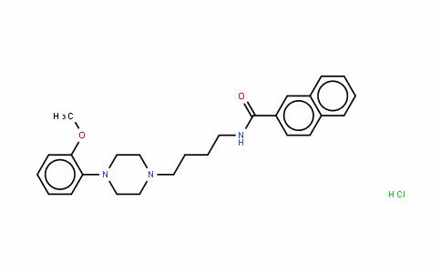 N-[4-[4-(2-甲氧基苯基)-1-哌嗪基]丁基]-2-萘甲酰胺单盐酸盐