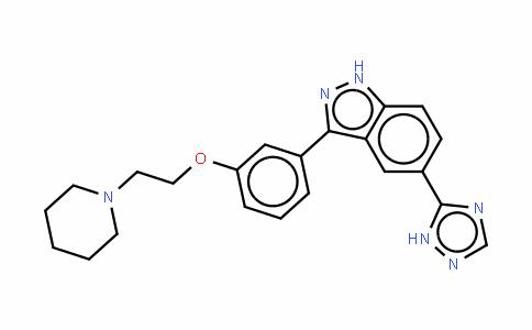 3-[3-[2-(1-哌啶基)乙氧基]苯基]-5-(1H-1,2,4-三唑-5-基)-1H-吲唑