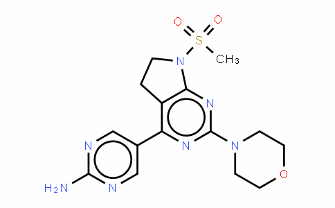 [5-[7-甲磺酰基-2-(吗啉-4-基)-6,7-二氢-5H-吡咯并[2,3-D]嘧啶-4-基]嘧啶-2-基]胺