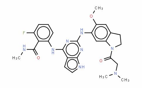 2-[[2-[[1-[(二甲基氨基)乙酰基]-5-(甲氧基)-2,3-二氢-1H-吲哚-6-基]氨基]-7H-吡咯并[2,3-d]嘧啶-4-基]氨基]-6-氟-N-甲基苯甲酰胺