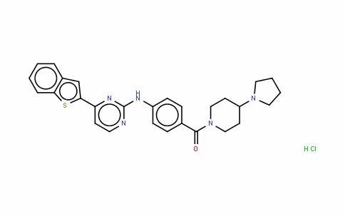 [4-[(4-苯并[B]噻吩-2-基-2-嘧啶基)氨基]苯基][4-(1-吡咯烷基)-1-哌啶基]-甲酮盐酸盐