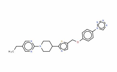 5-乙基-2-[4-[4-[[[4-(1H-四氮唑-1-基)苯基]氧基]甲基]噻唑-2-基]哌啶-1-基]嘧啶