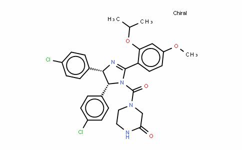 4-[[(4S,5R)-4,5-双(4-氯苯基)-4,5-二氢-2-[4-甲氧基-2-(1-甲基乙氧基)苯基]-1H-咪唑-1-基]羰基]-2-哌嗪酮