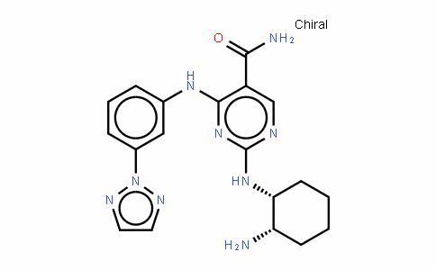 2-[[(1R,2S)-2-氨基环己基]氨基]-4-[[3-(2H-1,2,3-三唑-2-基)苯基]氨基]-5-嘧啶甲酰胺