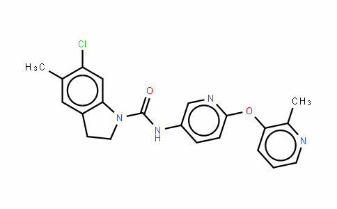 6 - 氯-2,3 - 二氢- 5 -甲基- N - [6 - [(2 - 甲基-3 - 吡啶基)氧] -3 - 吡啶基] - 1H -吲哚- 1 - 酰胺盐酸盐