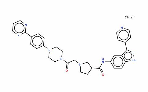 (R)-1-(2--2-氧(4-(4-(嘧啶-2-基)苯基)对二氮己环-1-基)乙基)-N-(3-(吡啶-4-基)-1H--5indazol-基)吡咯烷-3-甲酰胺