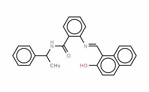 2-[[(2-羟基-1-萘基)亚甲基]氨基]-N-(1-苯基乙基)苯甲酰胺