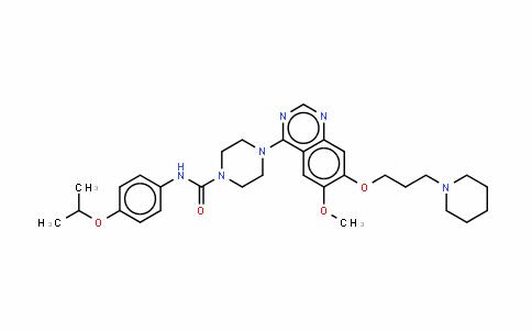 4-[6-甲氧基-7-(3-哌啶-1-基丙氧基)喹唑啉-4-基]-N-(4-异丙基氧苯基)哌嗪-1-甲酰胺