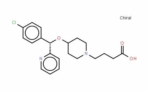 (+)-(S)-4-[4-[1-(4-chlorophenyl)-1-(2-pyriDyl)methoxy]piperiDin-1-yl]butyric acid