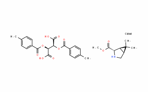 (1R,2S,5S)-methyl 6,6-Dimethyl-3-azabicyclo[3.1.0]hexane-2-carboxylate (2S,3S)-2,3-bis(4-methylbenzoyloxy)succinate