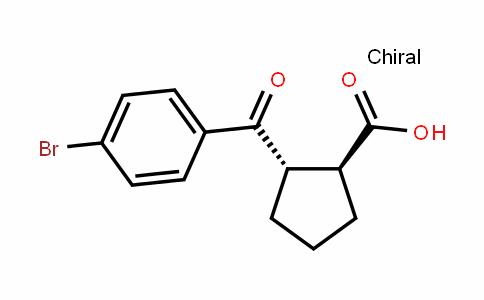(1S,2S)-2-(4-bromobenzoyl)cyclopentanecarboxylic acid