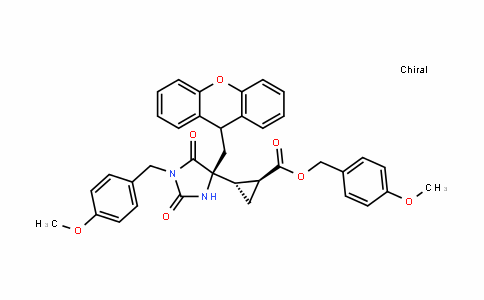 (1S,2S)-4-methoxybenzyl 2-((S)-4-((9H-xanthen-9-yl)methyl)-1-(4-methoxybenzyl)-2,5-DioxoimiDazoliDin-4-yl)cyclopropanecarboxylate