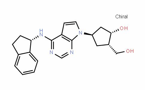 (1S,2S,4R)-4-(4-((S)-2,3-DihyDro-1H-inDen-1-ylamino)-7H-pyrrolo[2,3-D]pyrimiDin-7-yl)-2-(hyDroxymethyl)cyclopentanol