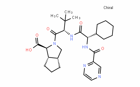 (1S,3aR,6aS)-2-((S)-2-((S)-2-cyclohexyl-2-(pyrazine-2-carboxamiDo)acetamiDo)-3,3-Dimethylbutanoyl)octahyDrocyclopenta[c]pyrrole-1-carboxylic acid