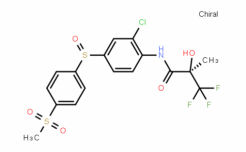 (2R)-N-(2-chloro-4-((4-(methylsulfonyl)phenyl)sulfinyl)phenyl)-3,3,3-trifluoro-2-hyDroxy-2-methylpropanamiDe