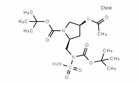 (2S,4S)-Tert-butyl 4-(acetylthio)-2-((Tert-butoxycarbonyl(sulfamoyl)amino)methyl)pyrroliDine-1-carboxylate