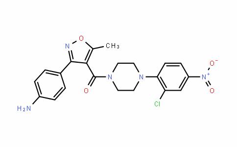 (3-(4-aminophenyl)-5-methylisoxazol-4-yl)(4-(2-chloro-4-nitrophenyl)piperazin-1-yl)methanone