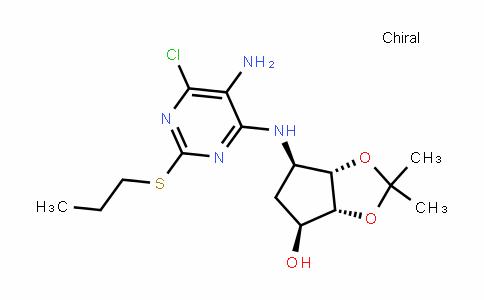 (3AR,4S,6R,6AS)-6-[[5-氨基-6-氯-2-(丙硫基)-4-嘧啶基]氨基]四氢-2,2-二甲基-4H-环戊烯并-1,3-二恶茂-4-醇